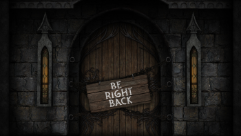 Gothic Castle Streaming Overlay Be Right Back screen