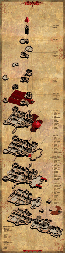 O-one Games Domain of Blood map - Count Vladimir Drawing Book
